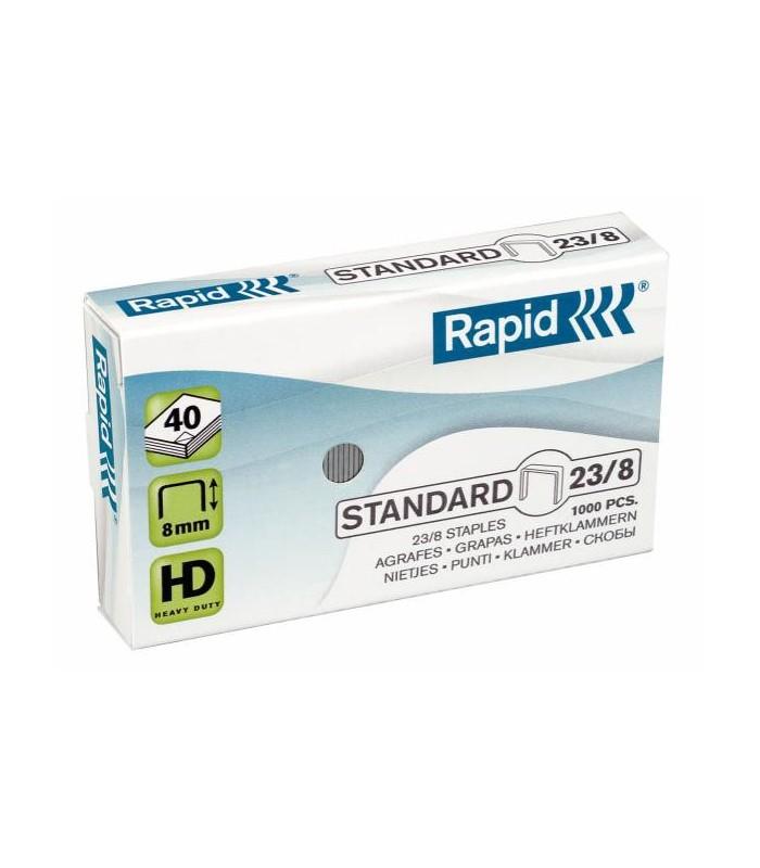 Capse pentru 10-40 coli, 1000 buc/cutie, model Standard 23/8 RAPID