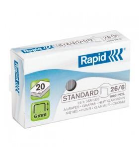 Capse 26/6, 1000 buc/cutie, Standard RAPID