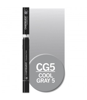 Marker cu schimbare tonalitate Cool Grey 5 CG5, CHAMELEON