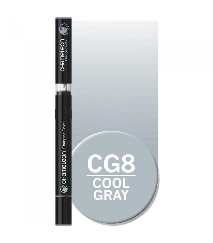 Marker cu schimbare tonalitate Cool Grey CG8 CHAMELEON