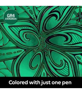 Marker cu schimbare tonalitate Evergreen GR4, CHAMELEON