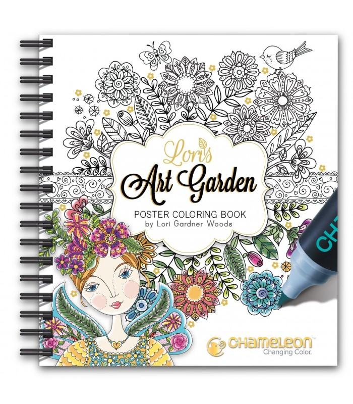 Carte de colorat Chameleon Lori's Art Garden