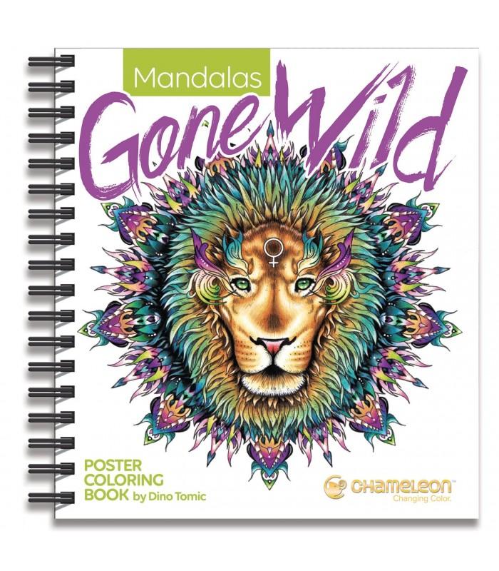 Carte de colorat Mandalas Gone Wild CHAMELEON