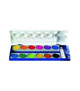 Acuarele 12 culori cu tub alb PELIKAN