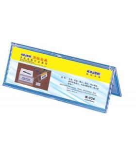 Display plastic forma A, pentru nume, 85 x 250 mm, KEJEA