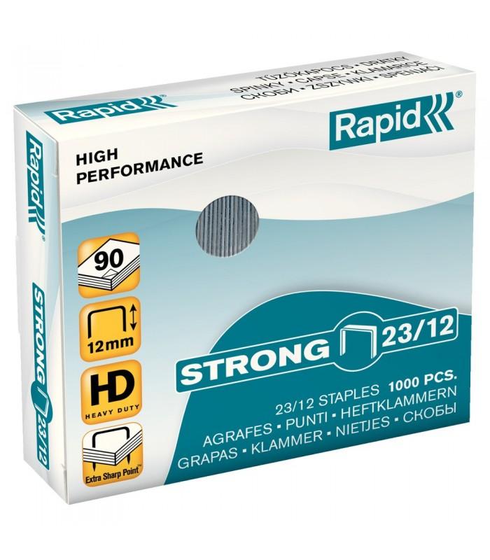 Capse pentru 60-90 coli, 1000 buc/cutie, model Strong 23/12 RAPID