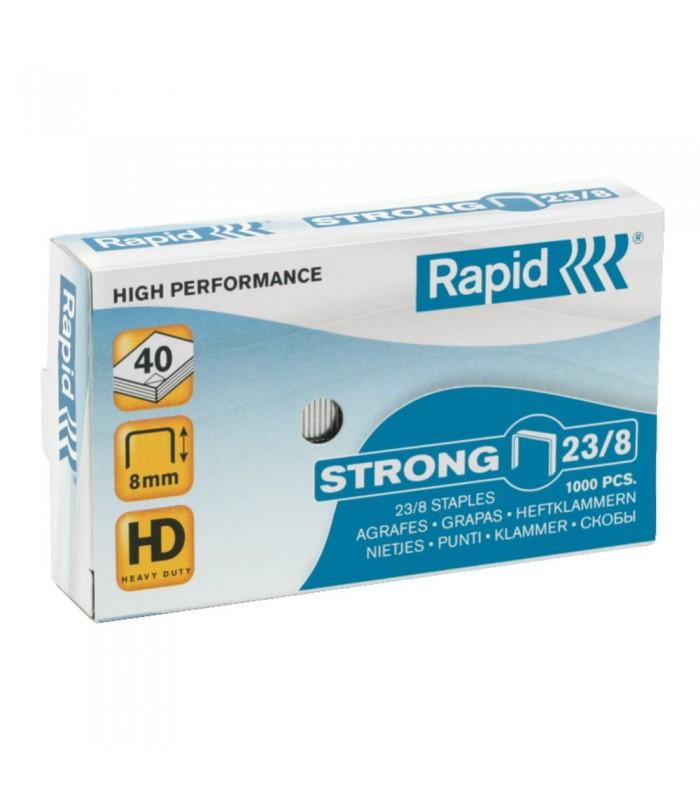 Capse pentru 10-40 coli, 1000 buc/cutie, model Strong 23/8 RAPID
