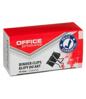 Clip hartie negru, 12 buc/cutie OFFICE PRODUCT