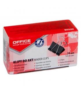 Clip hartie negru 12/cutie OFFICE PRODUCT
