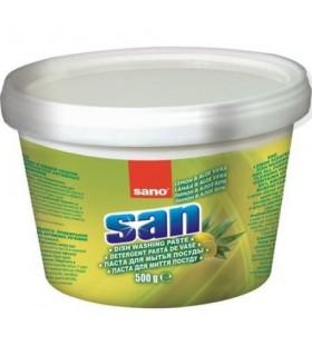 Detergent pasta pentru vase, 500 G, SANO SAN LEMON