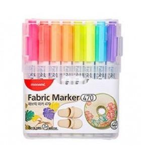 Marker pentru textile 8 culori set, Fabric 470 MONAMI