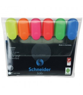 Textmarker set 6 culori, varf tesit 1.0 - 5.0 mm SCHNEIDER