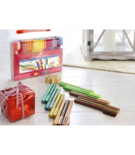 Carioca 60 culori in cutie cadou Connector FABER-CASTELL