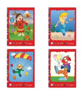 Carte de colorat A4 128 pagini diverse modele HERLITZ