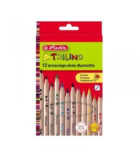 Creioane color triunghiular 1/1 set Trilino HERLITZ