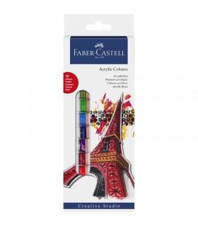 Culori acrilice 12 culori 12 ml FABER-CASTELL