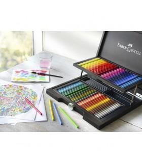 Creioane colorate acuarela, 72 buc/cutie lemn, Albrecht Durer FABER-CASTELL