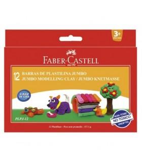 Plastilina 12 culori 160g FABER CASTELL