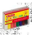 Plastilină set 8 culori economic cutie plastic HERLITZ