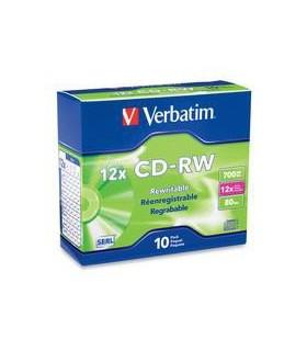 CD-RW 10 buc/set VERBATIM