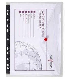 Folie protectie A4 transparenta, cu clapa laterala, 5/set SNOPAKE