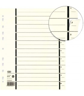 Separatoare carton, 300 x 240 mm, 100 buc/set, color ELBA