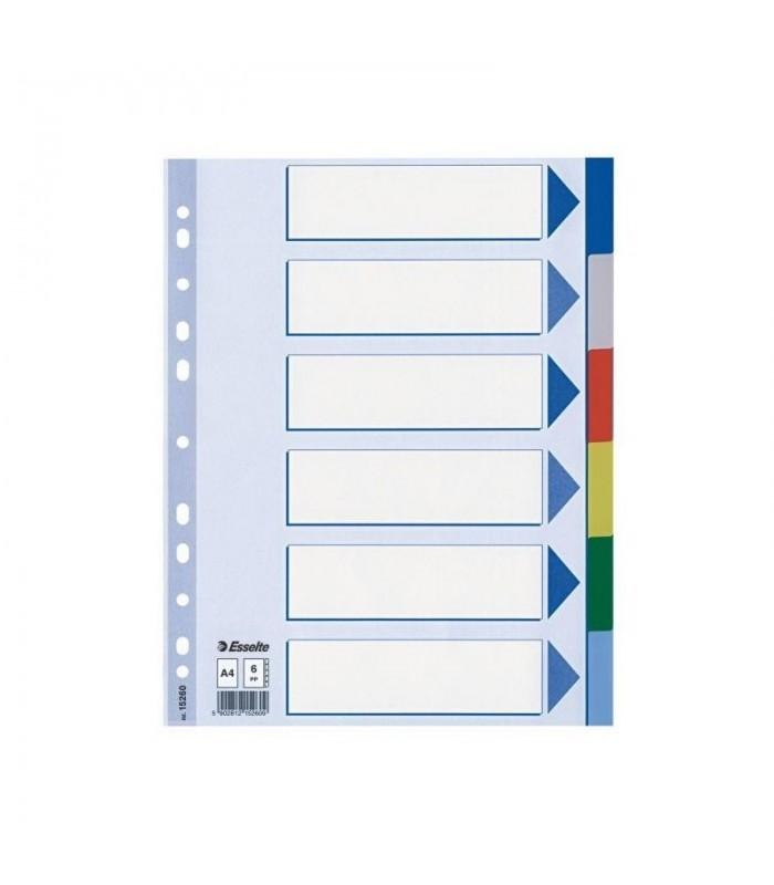 Separatoare plastic A4 color ESSELTE