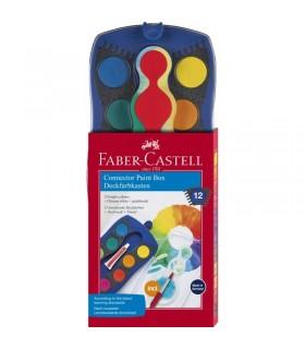 Acuarele Connector 12 culori albastru FABER-CASTELL