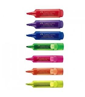 Textmarker superfluorescent diverse culori, varf tesit 1.0 - 5.0 mm FABER - CASTELL