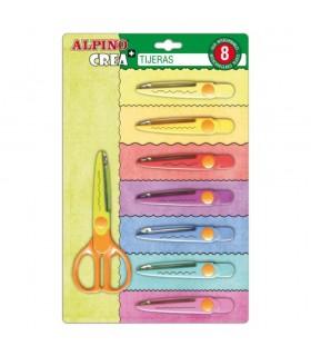 Foarfeca 13 cm cu 8 modele de taiere ALPINO Crea
