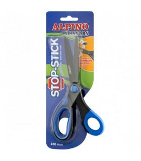 Foarfeca 18 cm cu rubber grip ALPINO Stop Stick