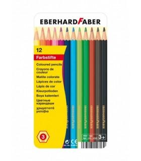 Creioane colorate cutie metal EBERHARD FABER