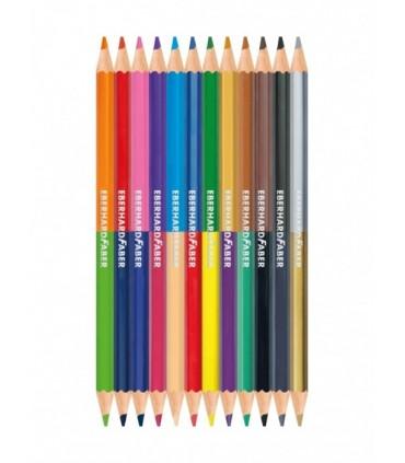 Creioane colorate bicolore 12*2 nuante EBERHARD FABER