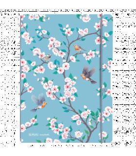 Caiet My.Book Flex A4 2x40 file dictando+matematica Ladylike Birds HERLITZ