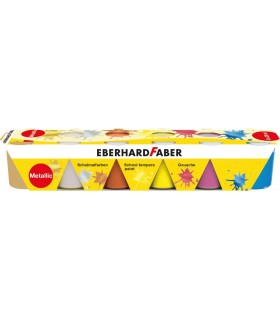Acuarele guase 6 culori 25 ml metalizate EBERHARD FABER