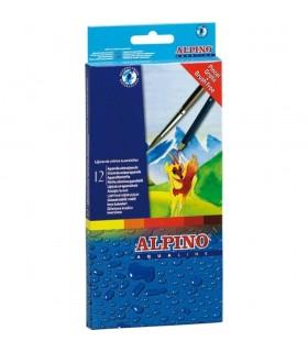 Creioane colorate acuarela ALPINO Aqualine