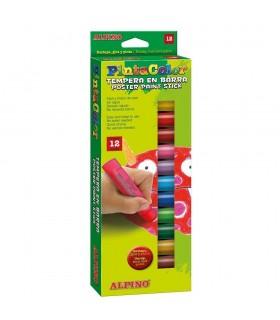 Creioane tempera 12 culori/cutie ALPINO PintaColor