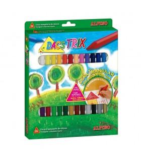 Creioane cerate soft triunghilare ALPINO DacsTrix
