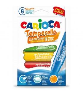 Creioane tempera lavabile 6 culori/cutie CARIOCA Temperello