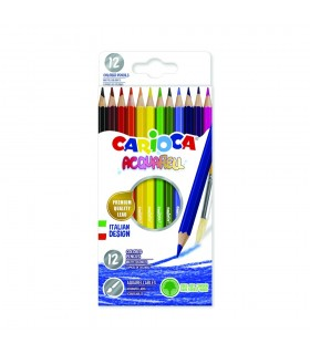 Creioane colorate acuarela in cutie carton hexagonale CARIOCA Acquarell