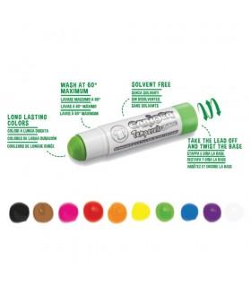 Creioane tempera pentru textile 10 culori rezistente la spalat CARIOCA Temperello Fabric