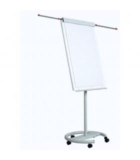 Flipchart magnetic, 100 x 70 cm, cu brate laterale, cu rotile, Vision OPTIMA