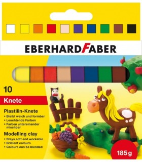 Plastilina 10 culori 185 g EBERHARD FABER