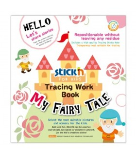 Carte educativa Tracing Work Book My Fairy Tale STICK'N