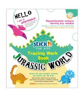 Carte educativa Jurassic World, Tracing Work Book STICK'N