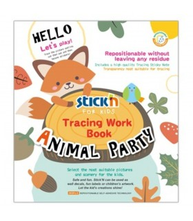 Carte educativa Tracing Work Book Animal Party STICK'N