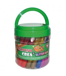 Galeata cu lipici Glitter Classic, 50 buc/set, Crea ALPINO