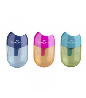 Ascutitoare plastic simpla cu container Apple Trend 2019 FABER-CASTELL
