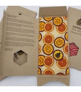 Folie alimentara ecologica cu ceara de albine Sandwich 33 x 33 cm SUPERBEE