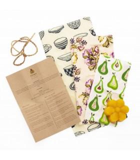 Kit de preparare folii alimentare ecologice cu ceara de albine, SUPERBEE